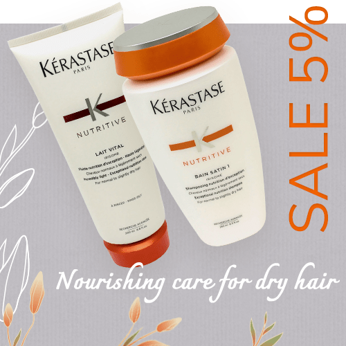 Nourishing care for dry hair - Sale 5%